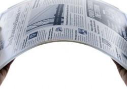 Sonunda bükülebilir Dijital led Gazete Yapıldı