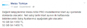 meizu-mx4 fiyat