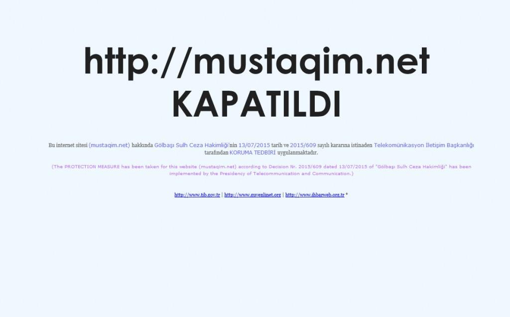 mustaqim-kapatıldı