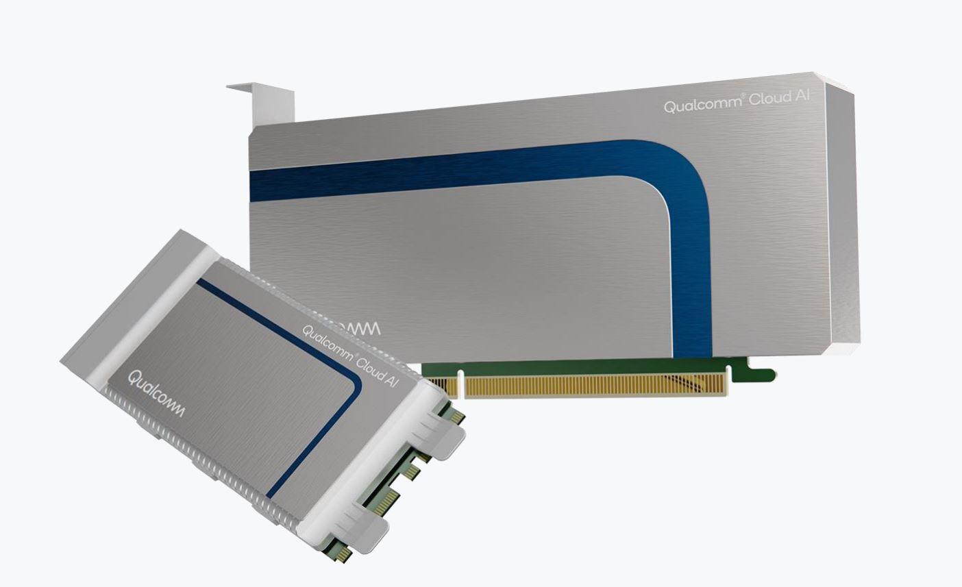 Qualcomm Cloud AI100 PCIe ve M.2 kartları (Kaynak: Qualcomm)